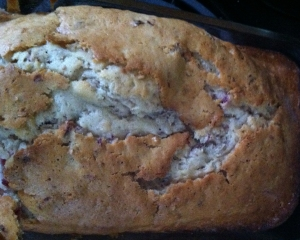 final product  - cranberry nut bread