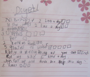 Little girl's diet plan